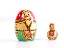 2 деревянных куклы вложенности Стоковое Изображение RF