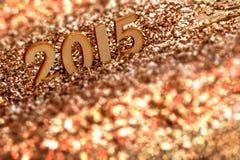 2015 деревянных номеров Стоковые Изображения RF