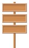 3 деревянных доски знака Стоковые Фото