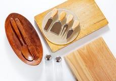 2 деревянных доски и ножа Стоковое Фото