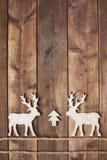2 деревянных оленя Стоковая Фотография RF