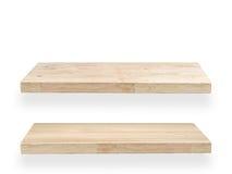2 деревянных полки Стоковое Изображение