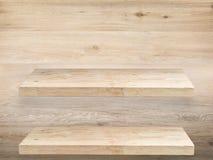 2 деревянных полки Стоковая Фотография