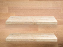 2 деревянных полки Стоковые Фото