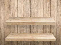 2 деревянных полки Стоковая Фотография RF