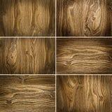6 деревянных предпосылок Стоковая Фотография RF