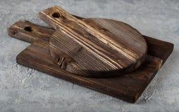 2 деревянных разделочной доски Стоковое Изображение RF