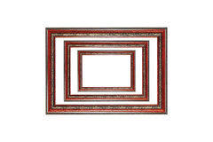 3 деревянных рамки изолированной на белизне Стоковое Изображение