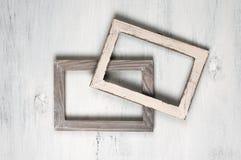 2 деревянных рамки фото Стоковые Изображения RF