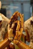 2 деревянных руки Стоковые Изображения RF
