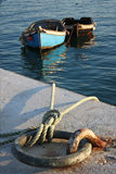 2 деревянных рыбацкой лодки Стоковая Фотография