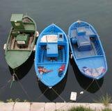 3 деревянных рыбацкой лодки Стоковая Фотография