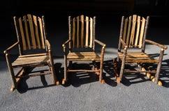 3 деревянных стуль Стоковое Фото