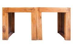 2 деревянных стуль Стоковое Изображение