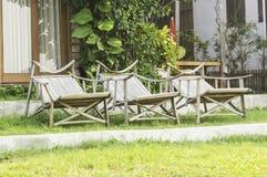 3 деревянных стуль adirondack Стоковое Изображение