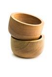 2 деревянных шара на белой предпосылке Стоковое Изображение