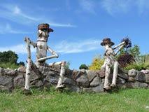 2 деревянных люд Стоковые Фотографии RF