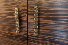 2 деревянных ящика с деревенскими ручками металла Стоковые Изображения RF