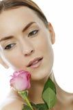 держать женщину пинка розовую Стоковые Изображения