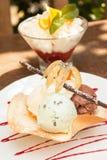 2 десерта мороженого Стоковое Фото