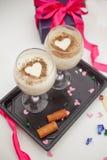 2 десерты и подарка на день валентинки St Стоковая Фотография RF