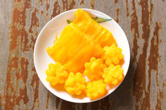десерт тайский Foi-ремень местного названия и Ремн-Yip Стоковые Изображения