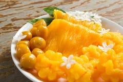 десерт тайский Foi-ремень местного названия, Ремн-Yip и med-Kanoon Стоковое Изображение RF