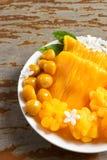 десерт тайский Foi-ремень местного названия, Ремн-Yip и med-Kanoon Стоковое Изображение