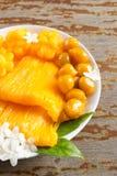десерт тайский Foi-ремень местного названия, Ремн-Yip и med-Kanoon Стоковая Фотография