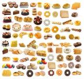 десерт, хлеб, торт, donuts, круассаны Стоковое Изображение