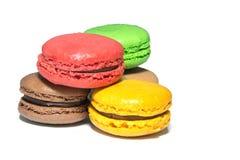 десерт magarons на белизне Стоковые Фото