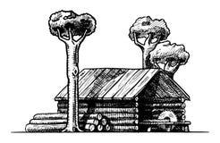 лесопилка Стоковое Фото