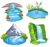 Естественная вода Стоковое Изображение