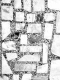 Естественная вымощая каменных текстура плит flor, дорожки или тротуара Традиционный вымощать загородки, суда, задворк или дороги стоковые фотографии rf