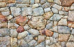 естественная грубая каменная стена текстуры Стоковая Фотография RF