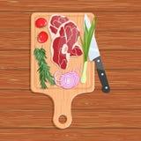 Естественная еда на разделочной доске бесплатная иллюстрация