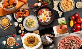 Естественная еда от различных культур Стоковые Фотографии RF