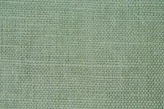 Естественная зеленая linen текстура для предпосылки Стоковое Фото