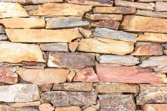 Естественная каменная стена сделанная каменной текстуры для дизайна интерьера Стоковое Изображение RF