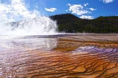 Национальный парк Йеллоустона, Вайоминг, Соединенные Штаты Стоковые Изображения