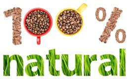 Естественная концепция кофе Стоковое Изображение
