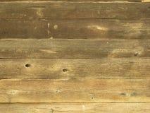 Естественная коричневая стена древесины амбара Стоковая Фотография RF