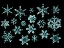 Естественная кристаллическая часть макроса снежинки льда Стоковые Изображения RF