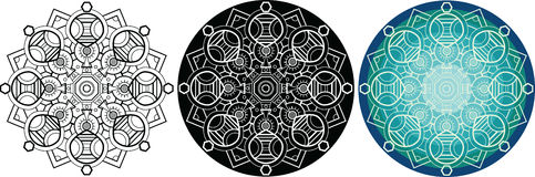 Естественная мандала для книжка-раскраски сделайте по образцу кругом бесплатная иллюстрация