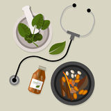 Естественная нетрадиционная медицина традиционная Стоковое Изображение RF