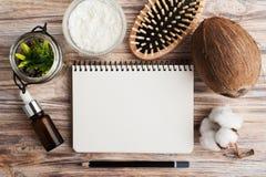 Естественная обработка волос с кокосом Стоковое Фото