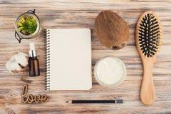 Естественная обработка волос с кокосом Стоковая Фотография RF