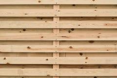 Естественная предпосылка деревянных горизонтальных предкрылков Стоковая Фотография