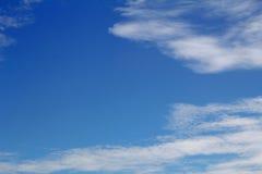 Естественная предпосылка с облаком голубого неба Стоковое Изображение RF