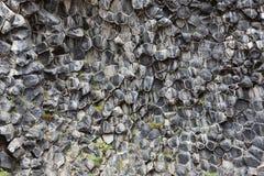 Естественная предпосылка шестиугольных каменных образований Стоковое Фото